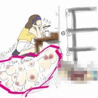 母親の淫乱なイラスト描きオナネタにする変態息子